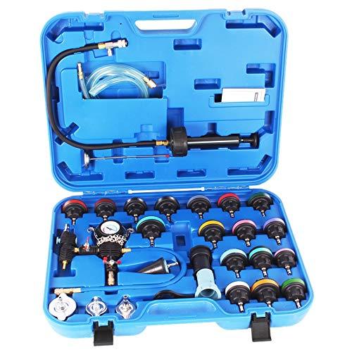 TECPO 300150 Kühlsystem Tester Kühlmittel Pumpe Kühler Abdrückgerät Zylinderkopf Prüfgerät Spezialwerkzeug Kühler prüfen Kühlsystemtester