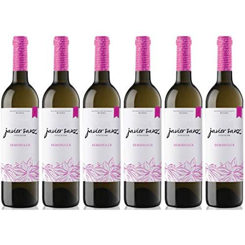 Javier Sanz Vino Blanco Semidulce - 6 Botellas - 4500 ml