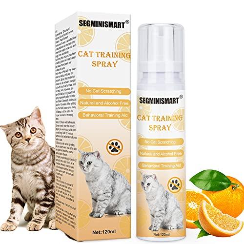 SEGMINISMART Kratz Spray Katzen,Kratzschutz Katze,Anti Kratz Spray für Katzen,Calming Spray,Anti Spray Hunde & Katzen,Wirkt Schnell & Effektiv gegen Stress,Kratzfestes für Sofa,Tür,Tisch,Möbel