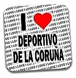 Posavasos con texto en inglés 'I Love Deportivo Da La Coruna' – Regalo – Cumpleaños – Navidad – Relleno de calcetín