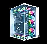 Talius Cronos Frost Caja Gaming ATX, Cristal Templado, Ventiladores Iris RGB (Disponible en Tres Colores) (White)