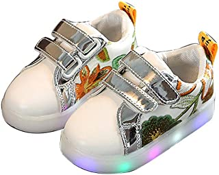 BY0NE Baby Trainer Kids Tenis Light up Sneakers LED Luminous Shoes Boys Girls Colorful Flashing Lights Shoes
