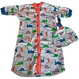 【未熟児】【低出生体重児】【早産児】用 ベビー服:ジュラシックガウン 帽子付き