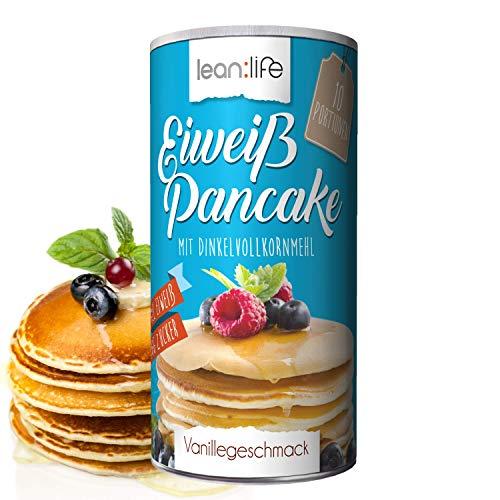 Eiweißpankes | Protein Pancake | DINKELVOLLKORNMEHL | ZUCKERARM | VIEL EIWEIß | gesund, schnell & einfach | lean:life | 500g