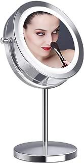 拡大鏡10倍 LED拡大鏡 化粧鏡 LEDミラー 卓上ミラーled 化粧ミラー 360度回転ミラー LEDライト付きミラー 真実の北欧風卓上鏡 卓上鏡 LED化粧鏡 両面化粧鏡 スタンドミラー「Gospire」