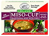 Edward & Sons Miso-Cup Organic Traditional Soup with Tofu Single Serve Envelopes, 4 Count Box (Pack...