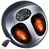 Foot Massager Machine with Heat for Plantar Fasciitis and Foot Pain Relief, Shiatsu Slabway Feet Massager for Neuropathy Pain and Circulation, Best Gifts for mom/dad/Women/Men