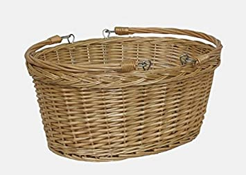 Medium Swing Handle Shopping Basket with Red and White Check