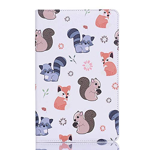 Tanxinxing For Samsung Galaxy Tab A 8.0 (2019) SM-T290/SM-T295 Cute Cartoon Animals Design PU Leather Flip Wallet Stand Tablet Case Cover (PATTERN : 5)