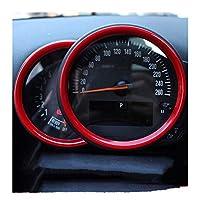 カーインテリア3Dステッカーカバー クラブマンカントリーカーインテリアトリムアクセサリーステアリングホイールの装飾カバーにとってMINIクーパーSのF54 F55のF56のF60についてカースタイリング (Color : 赤, サイズ : 1)