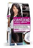 L'Oréal Paris Casting Crème Gloss Coloration Ton sur Ton pour Cheveux - Sans Ammoniaque - Noir Ebène (200)