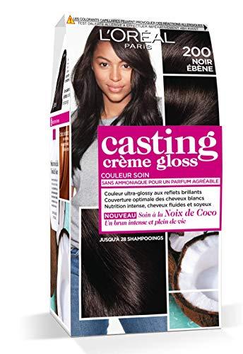 L'Oréal Paris Casting Crème Gloss Coloration Ton Sur Ton Sans Ammoniaque 2.00 Noir Ebène - Lot de 2