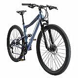 BIKESTAR Bicicleta de montaña Suspensión Doble Completa 29 Pulgadas   Cuadro 19' Cambio Shimano de 21 velocidades, Freno de Disco, Fully MTB Azul