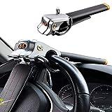 一年保証 盗難防止 自動車 ハンドルロック 簡単設置 鍵2本付き 日本語説明書付き