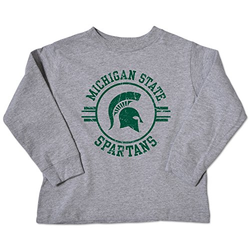 NCAA Michigan State Spartans Toddler Long Sleeve Tee, 4 Toddler, Oxford