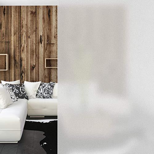 Relaxdays, milchig Milchglasfolie 45 x 200 cm, statisch haftend, Blickdicht, Sichtschutz für Scheiben, Fenster-Folie,PVC, Einzeln