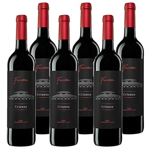 Vino de Toro Fariña Crianza 2016 (6 x 75cl.) - Vino tinto Crianza 11 meses en barricas de Roble Francés - Tinta de Toro (Tempranillo) 100%