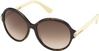 TOM FORD FT0343 Milena Sunglasses Shiny Havana Ivory w/Brown Gradient (56F) TF 343 56F 59mm Authentic