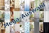 KS Handel 24 Textil Duschvorhang 240x180 cm / Weiß Blau Tropfen