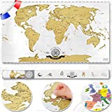 Scrape Off World map - carte du monde à gratter; poster XXL carte du monde à gratter avec vernis premium d'Allemagne 82 x 45 cm