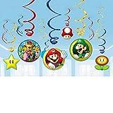 Amscan, 671554, decorazioni a tema Super Mario, Multicolore