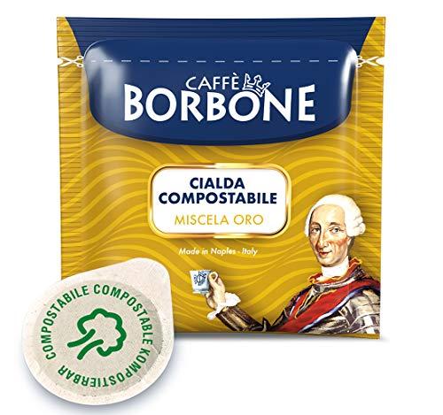 Caffè Borbone Kaffee Kompostierbare Pods, Gold Mischung - 100 stück - Kompatibel mit ESE System Papier Pads 44 mm