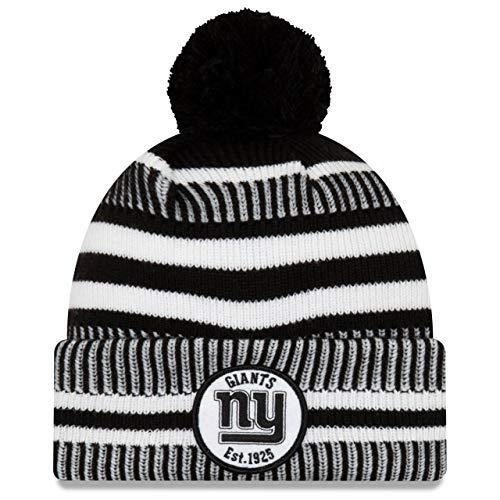 New Era Sideline Black Home Bommel Mütze New York Giants