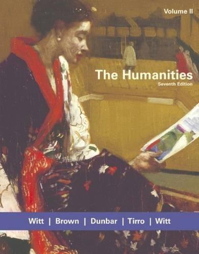 The Humanities, Volume II