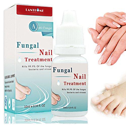 LANTHOME Traitement des ongles Onychomycose 10 ml pour le blanchiment des ongles des pieds, l'élimination des champignons des orteils
