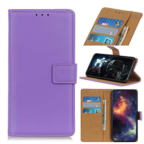 NEINEI Funda para Motorola Moto G30/G10,Carcasa Cuero Libro con [Ranura para Tarjeta] [Cierre Magnético] [Soporte],TPU/PU Minimalismo Diseño Flip Phone Case Cover,Púrpura
