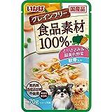 食品素材100%パウチ とりささみ&緑黄色野菜 軟骨入り グレインフリー 70g×12コ