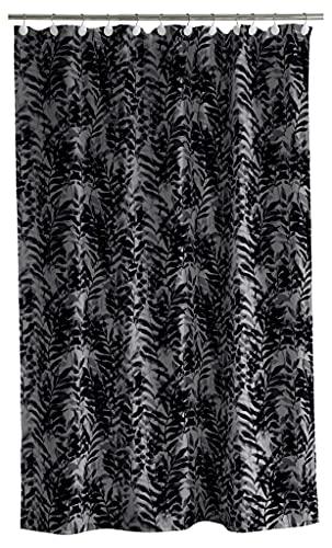 Södahl Leaves Duschvorhang 180x200 cm, Wasserabweisend, Grau