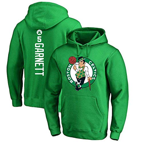 HUANGB Fans Jersey Sudadera con Capucha De Baloncesto NBA Boston Celtics 5 Sudadera Kevin Garnett Cómodo Entrenamiento Casual Sudadera con Capucha All-Star,Green-XXL