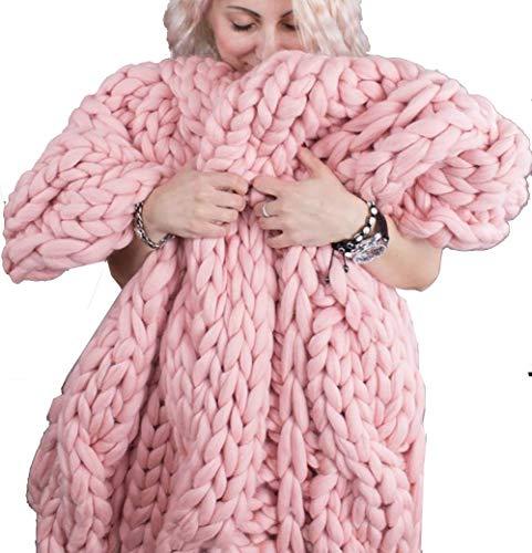 Merino wol garen arm breien gooien grof gebreide wollen deken als sprei handgemaakt gebreid knuffeldeken wol warm voor huisdier bed stoel sofa yoga mat tapijt