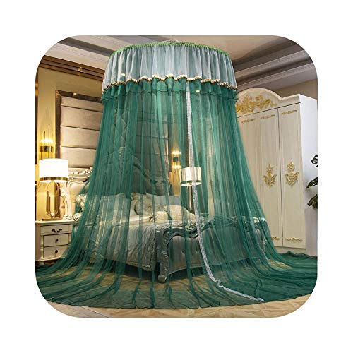 HOT-house Princess Dome Hung Mosquito Net Gradient Color BedTent Cortina Plegable Elegante Fairy Lace Bed Canopy Girls Room Decor-Color 5-150x1200x30cm
