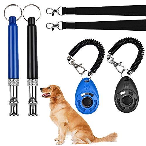 GODORIO 2PCS Professional Dog Training Whistle with Clicker, Adjustable Pitch Ultrasonic Dog...