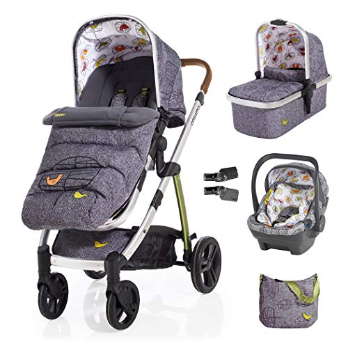 Cosatto Wow 3 in 1 isize Travel System Dawn Chorus with Dock car seat Bag footmuff