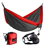 HONEST OUTFITTERS Double Camping Hammock with Hammock Tree Straps,Portable Parachute Nylon Hammock for Backpacking…