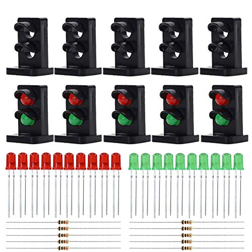 Evemodel JTD25 10 Sets Target Faces with LEDs for Railway Dwarf Signal O Scale 2 Aspects