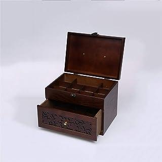 Wooden Medicine Box Household Large Capacity Multi-Layer Medicine Box First Aid Kit Medicine Storage Box Annacboy