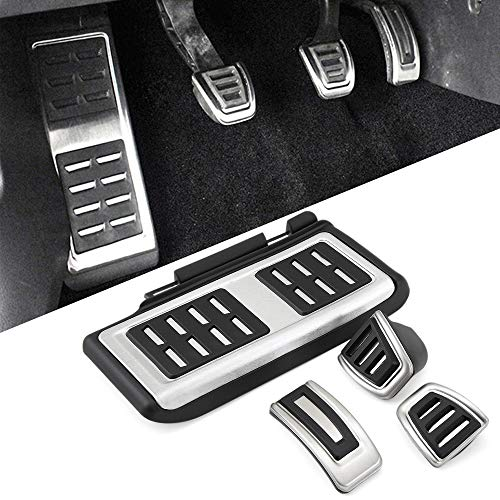 Tapones de acero inoxidable para pedal de embrague T-roc T ROC, pedal de freno, accesorio acelerador