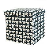 FSYGZJ Floding Cube Storage Ottoman Footstool,Portable Cotton...
