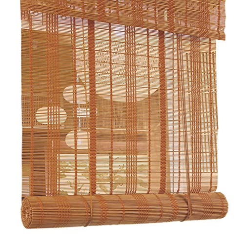 JCJ-Shop Cortina Enrollable para Ventana, con Filtro De Luz De Valencia ProteccióN UV para Lamas De Bambú Durables De Oficina De SalóN De Té (17.7x39.4 Pulgadas)