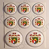 All3DStickers Wappen Liechtenstein Aufkleber Harz Gewölbt 8 x Aufkleber von Liechtenstein Rund 3D Kfz-Aufkleber Gedomt Flaggen Fahne