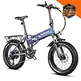Eahora X5 20 Inch Fat Tire Foldable E-Bike 500W Off-Road Electric...