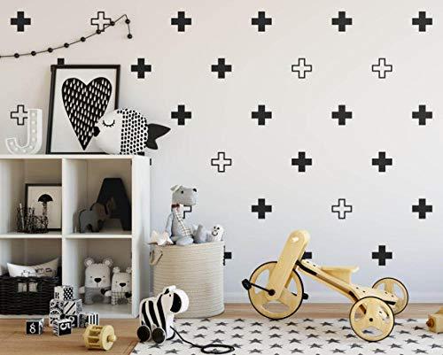 Cooldeerydm 100 stuks/set moderne wandstickers kruis Zwitserland vinyl kunst afneembare stickers knutselen kinderkamer decoratie kinderkamer N829 @ Navy_Blue