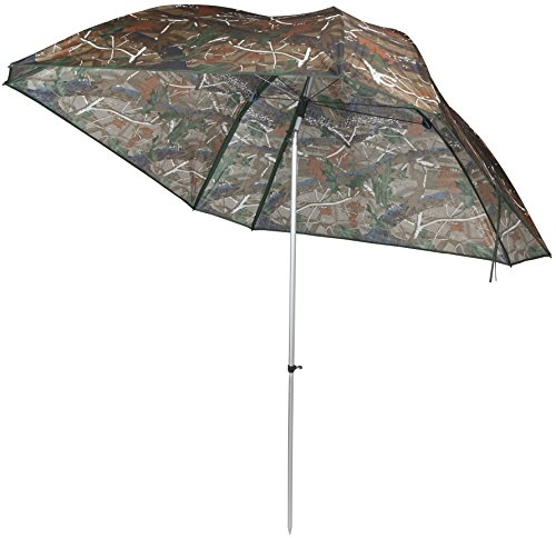 VTK Fishing - Parapluie de Pêche Camo 250 - Oxford - Aluminium - Superior