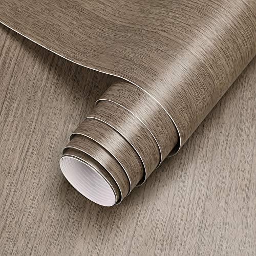 Klebefolie Holz Folie selbstklebend Möbelfolie 5 * 0.61M, Holzoptik PVC Tapete Dekofolie für Möbel Küche Kommode Schrank Tisch Wasserdicht
