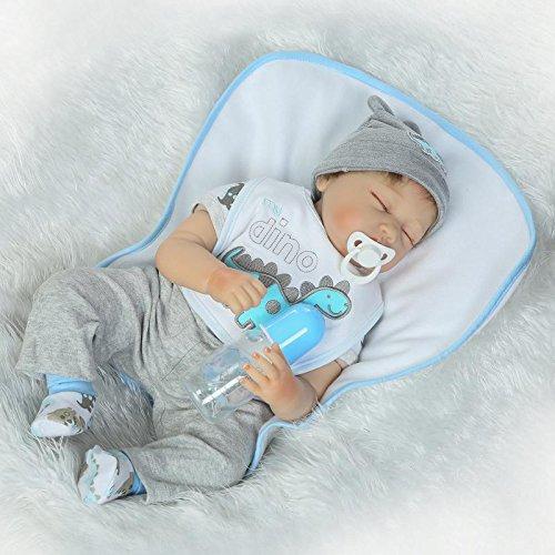 HOOMAI 22inch 55 cm Puppe Reborn Babys lebensecht Junge silikon doll Boy sehr günstig Magnetisches Spielzeug