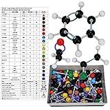 Hztyyier 267 Unids Modelos moleculares, Quimica organica e inorgánica Accesorios para Modelos moleculares químicos para Maestros Estudiantes Científico Clase de Química